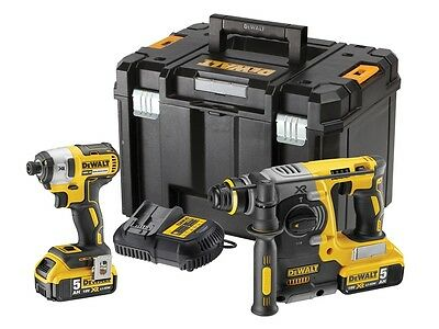 New DeWalt Kit - DEWDCK2532P2 DCK2532P2 XR Twin Pack 18 Volt 2 x 5.0Ah Li-Ion