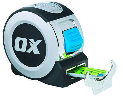 New OX TOOLS Compact *Pro* 5 Metre / 16ft Tape Measure P020905 27mm Wide Blade!