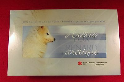 99.99 Fine Silver 2004 Canadian Coin Set EB