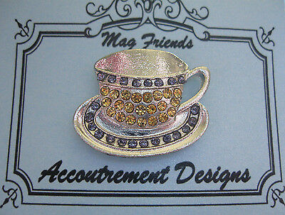 Accoutrement Designs Coffee Tea Cup Purple Needle Minder Magnet Mag Friends