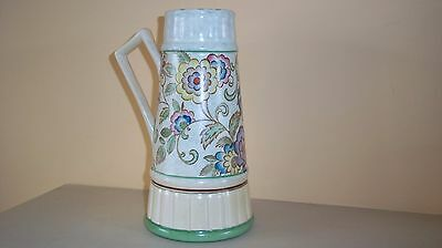 Art Deco Roskyl Pottery Jug Vase Like Charlotte Rhead In Design Hand Painted