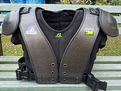 Carbontek football shoulder pads sz adult XL from Russell Athletic USED