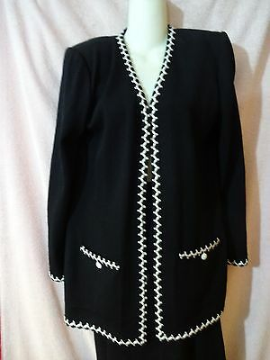 5970491e6d ST. JOHN COLLECTION by Marie Gray Black Knit Top with Matching Pants ...