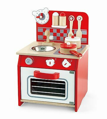 Viga Wooden Mini Kitchen With Accessories