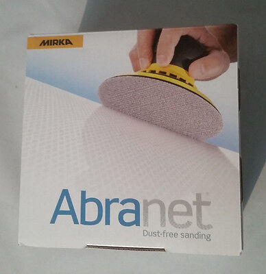 "Mirka Abranet 150mm 6"" Sanding Discs dust free Box of 50"