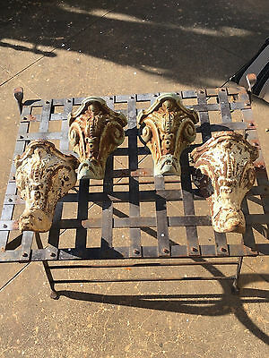 Antique cast iron bath tub feet-SERPHANT HEAD-set of 4