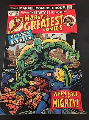 Marvel's Greatest Comics  # 53 Cents Issue Fantastic Four BRONZE