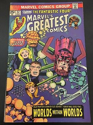 Marvel's Greatest Comics  # 57 Cents Issue Fantastic Four BRONZE