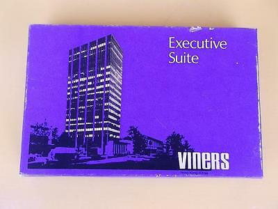 303 / 1970s BOXED SET OF VINERS STAINLESS STEEL EXECUTIVE SUITE PASTRY FORKS