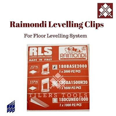 2000 RLS 1.5mm RAIMONDI TILE LEVELLING CLIPS for LEVELING TILES Free Delivery