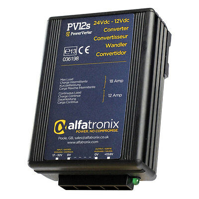 Alfatronix PV12S 24VDC to 12VDC Converter Non-Isolated (Common Earth)