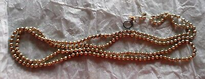 """364"""" Vintage Christmas Garland Mercury Glass Beads Multi, Hot Pink, Silver, Gold"""
