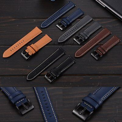 Quick Release Leather Watch Band Strap 22mm For Fossil Q Founder Gen 1 / 2 +Tool
