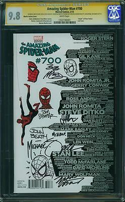 AMAZING SPIDER-MAN #700 CGC 9.8 SIGNED & SKETCHED x7 - MARTIN VARIANT - LAST ISS