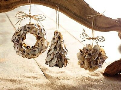 Mudpie-Oyster Shell Ornament Set3