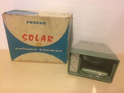 Vintage 1960's Boxed SOLAR Colour Viewer. PHOTAX Made in England.