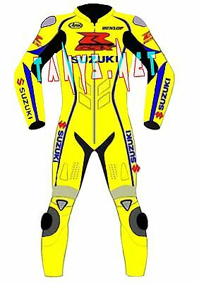 Suzuki Gsxr Motogp Motorcycle Motorbike Racing Cowhide Leather Suit