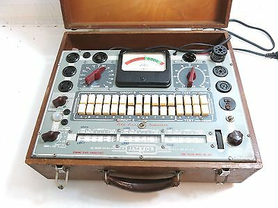 Vintage Jackson Model 648 Dynamic Plate Conductance Tube Tester In Wooden Case