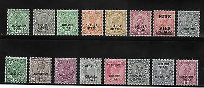 Queen Victoria Onwards Collection Of India  Stamps Chamba Mostly Unused
