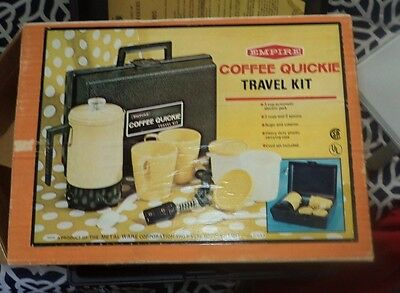 Vintage Empire Coffee Quickie travel kit with case electric