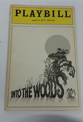 Into The Woods Playbill Program from the Martin Beck Theatre in 1987