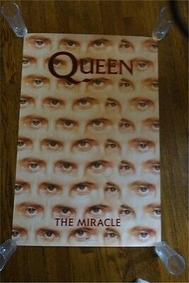 """Queen The Miracle """"Eye"""" Poster Capitol Records VERY RARE 1989"""