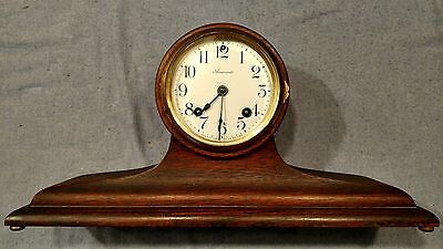 antique Ansonia Chestnut Cab.37 Brooklyn mantle clock for parts or restore