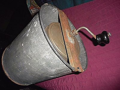 Antique Primitive  Ice Cream Maker -  Directions On Top