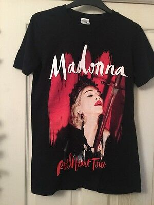 Madonna Rebel Heart Official Rare Tour T Shirt Queen Of Pop S