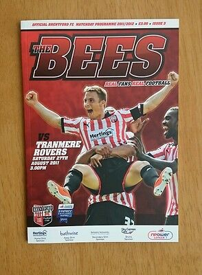 2011/12 BRENTFORD v TRANMERE ROVERS  - EXCELLENT CONDITION