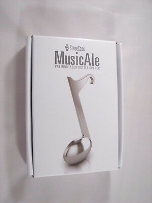 StoneCask MusicAle Eighth Note Premium Bottle Opener - Stainless Steel - New