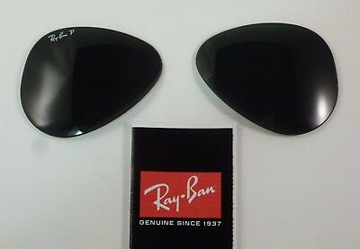 4e407e23b85 New Authentic RAYBAN Replacement Lenses RB3025 Aviator G-15 POLARIZED 55mm
