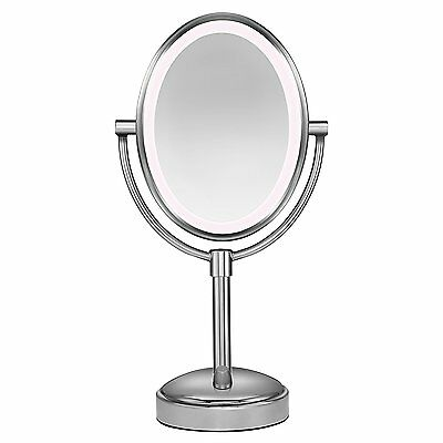 Conair Oval Shaped LED Double-Sided Lighted Makeup Mirror 1x/10x  MagnifIcation