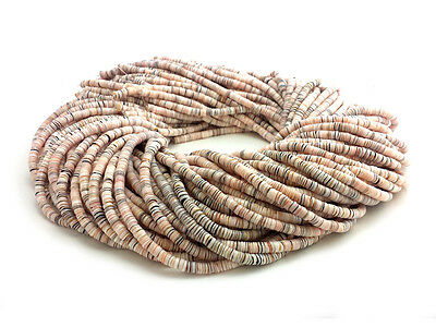 Exotica Mixed Luhuanus Shell Heishi Beads (2 - 3 mm , 24 Inches Strand)