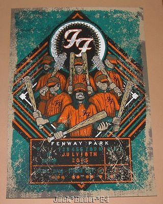 Foo Fighters Brad Klausen Boston Fenway Park Poster Print Signed Numbered AP Art