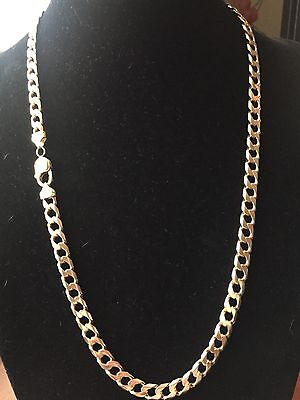 Men's Heavy 9CT Gold Curb Chain. 70 Grams. 25 1/2 Inch.