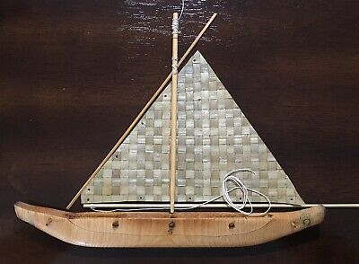 Guam Flying Proa Kit (Chamorro Canoe) - 3D Scale Model Handmade Mini Miniature