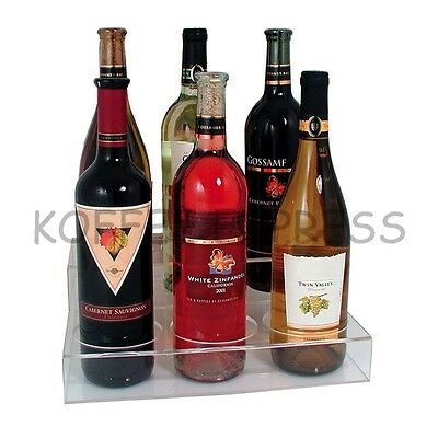 Acrylic Wine Bottle Holder, 6 Holes - Update International ABO-3x2