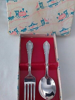 1847 Rogers Bros IS Remembrance Silverplate Baby Infant Spoon Fork Flatware