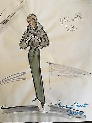 Edith HEAD : Audrey Hepburn ORIGINAL Costume Sketch from SABRINA, 1954