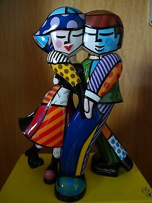 "Romero Britto:Goebel Porzellan Skulptur ""CHEEK TO CHEEK"" Nr. 66/500  *ansehen*"