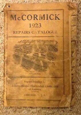 Vintage 1923 McCormick Repairs Catalogue International Harvester Co America