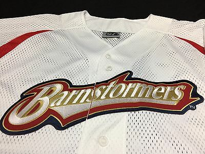 RARE VTG Louisville Barnstormers Full Button Mesh Sewn Baseball Jersey Men's XL