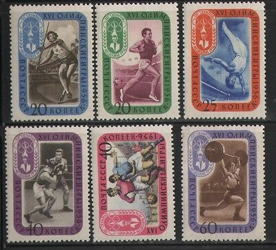 Russia 1956 Success Of The Soviet Atletis At The 16Th Olympic Games,   Mnh