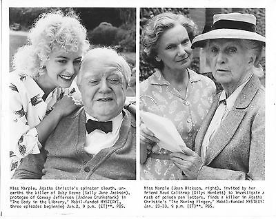 Joan Hickson/agatha Christie's Miss Marple/8X10 Original Photo Cc21449 6-67