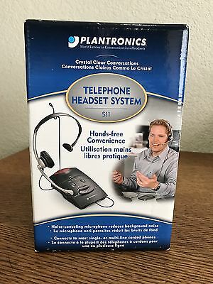 Plantronics S11 Hands Free Telephone Headset System New Sealed