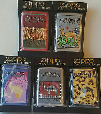 Night Collectors Series Set of 5 Camel Zippo Lighters Music CZ #542 to #546 MNT