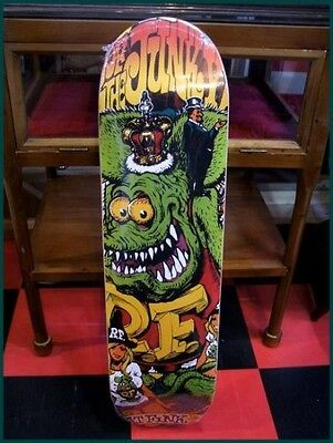 Used! Excellent! Rat Fink Rockin 'Jelly Bean Skate Deck Skateboard Ed Roth