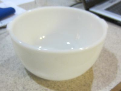 Vintage GLASBAKE Made For SUNBEAM MIXER WHITE Glass Large MIXING BOWL  #16