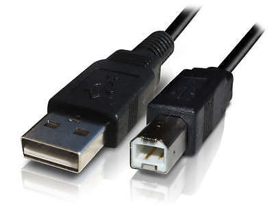 Black Usb 2.0 A To B 1.8M Cable For Printer Etc